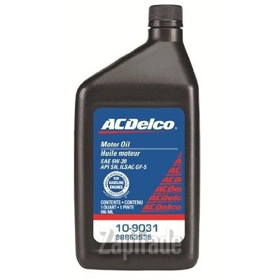 Моторное масло Ac delco Motor Oil SAE 5W-20 Синтетическое